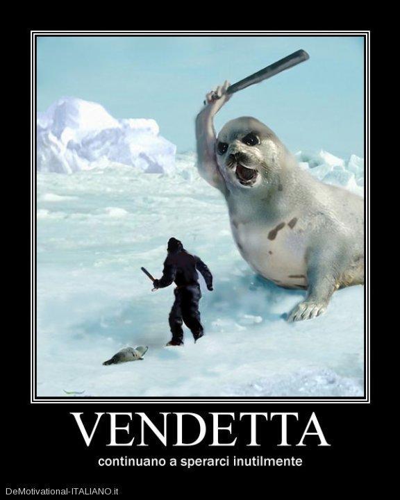 Prendere a bastonate i cuccioli di foca